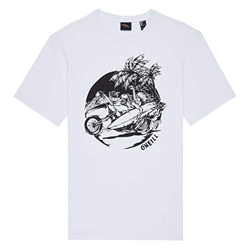California Girls T-shirt (O'Neill LM Surfer Girl T-SHIRT-1010 Super White-L Herren T-Shirt, Weiß, L)