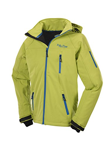 Fifty five veste softshell pour homme Vert - Lime/Royal