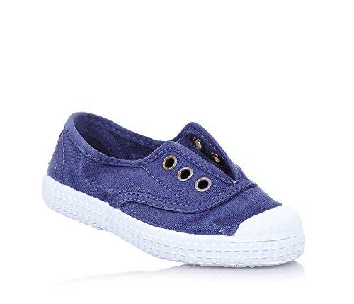 Cienta 70777 21/27 unisexe bleu chaussures en tissu élastique Blu
