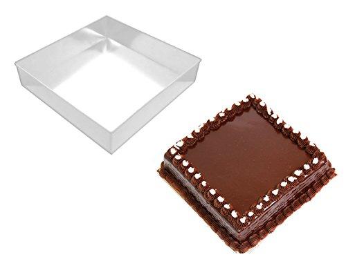 EURO TINS Moule à gâteau Carré de 21 cm (7,5 cm tief)