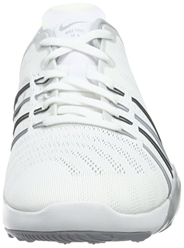 Argento bianco Wlf Grigio Libero Fitness Trainer Nike Donna Metallizzato Bianca Scarpe 6 7qx81