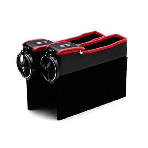 Zhhlinyuan Dauerhaft 2pcs Universal Car Auto Seiten Schlitz Seat Filler Gap Bottle Coffee Cup Holder Storage Box Organizer (Cup Holder Car Organizer)