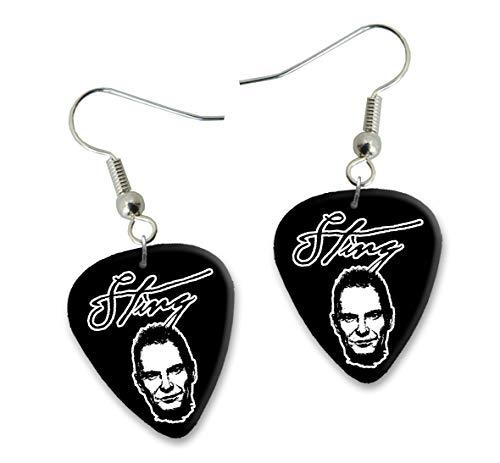 Sting Police Design 2 Gitarre Plectrum Ohrringe Earrings BWEG