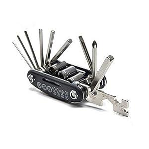 Heaviesk 15-in-1-Multifunktions-Universal-Fahrrad-Werkzeug Bike Repair Kit Radfahren Schraubendreher Inbusschlüssel Fahrradzubehör