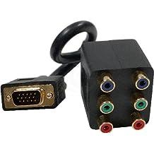 Cablematic - Cable Duplicador Pasivo (1 VGA a 2 3xRCA-H)