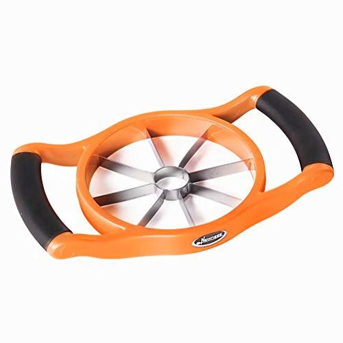 Newness Cortador de Manzanas, acero inoxidable pelador de manzanas, la manija ergonómica del apretón,Naranja
