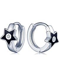 f1ccfd0b560f Infinito U Pendientes para Mujeres Chicas Plata de Ley 925 Estrella Epoxi Pendientes  de Aro