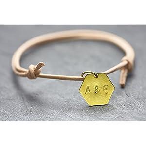 Armband Gravur Geometrie Freundschaftsarmband Buchstaben Nude
