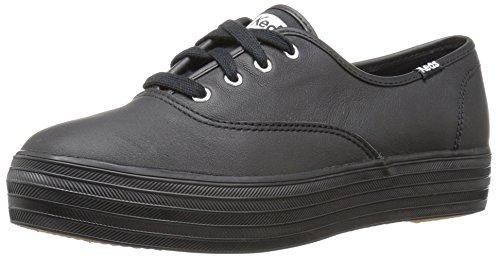 keds-damen-triple-leather-laufschuhe-schwarz-black-black-40-eu