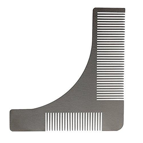 Andux Zone Acier inoxydable peigne barbe moustache forme de modèle homme argent BXGSZ-01 (Argenté)