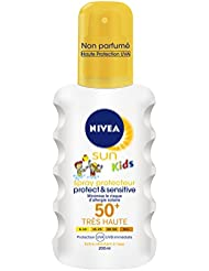 Nivea Sun Kids Spray Protecteur Protect et Sensitive FPS50 + 200 ml