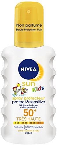 Nivea Sun - Kids Spray Protecteur Protect et Sensitive FPS50+ - 200 ml