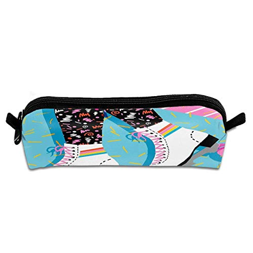 80s Retro Throwback Rollerskating Rink Multi-Purpose Polyester Fiber Pencil Case Student Stationery Cosmetic