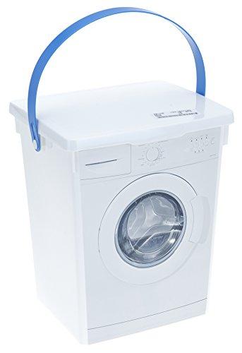 Waschpulverbox Waschmittelbox Vorratsdose + 1 gratis Mircofasertuch -VANI- 30 x 30 cm Kunststoff 5 l Waschmitteldose Waschmittelbehälter