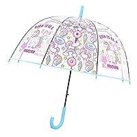 Unicorn Transparent Stick Umbrella, Bubble Dome Auto Open Umbrella Windproof for Outdoor Weddings,School Back