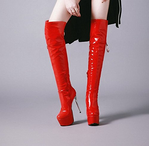 MissSaSa THIGH BOOTS DONNA AFFASCINANTE Rosso