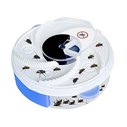 Anseke Home Trap-Gerät mit Überfüllung, Mosquito Killer,Autumatisches Electric Fly Trap Gerät, Safe Green Silent Physical Fly Trap mit Trapping Food & White USB-Kabel für zu Hause und im Freien