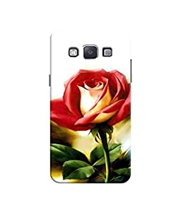 Sketchfab Red Rose With Green Stem Latest Design High Quality Printed Designer Back Case Cover For Samsung Galaxy A3