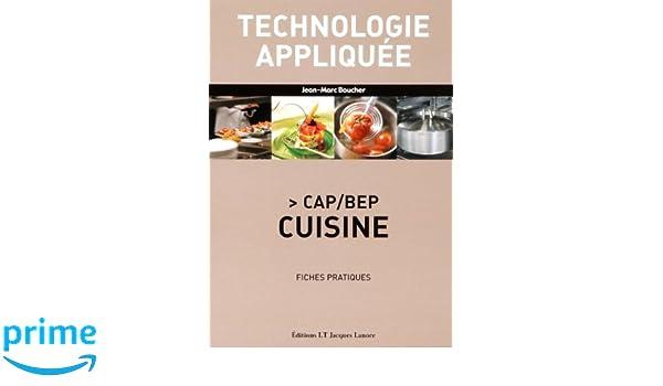 Bep Cuisine | Technologie Appliquee Cap Bep Cuisine Fiches Pratiques Amazon Co