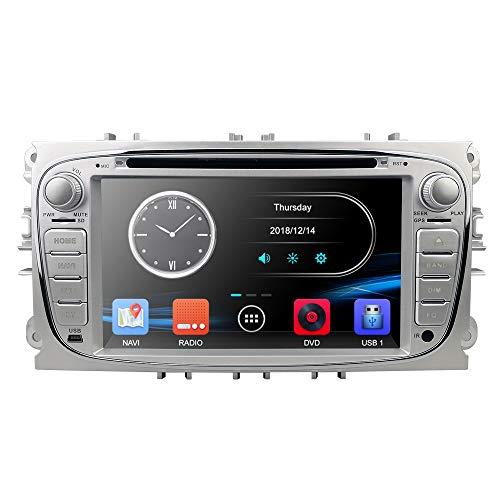 Dual DIN Car Radio Reproductor de DVD con GPS Navi para Ford...