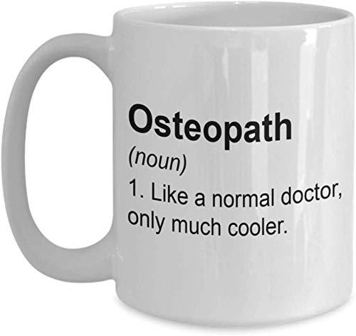 Thorea Regalos de osteópata: como un médico Normal, una Taza de café Mucho más Fresca, apreciación Ideas de Regalo de cumpleaños de Christams para MD, Taza de 11 oz