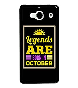 HiFi High Glossy Designer Phone Back Case Cover Xiaomi Redmi 2 :: Xiaomi Redmi 2S :: Xiaomi Redmi 2 Prime ( Legends Are Born In October Quotes )