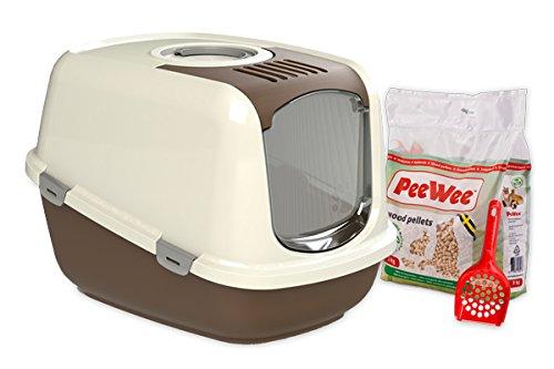 *PeeWee EcoDome – Katzentoilette – Starter-Paket Braun*