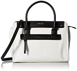 Kenneth Cole Reaction Tab Over Satchel, Chalk/Black