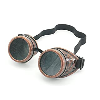 Steampunk Antique Copper Cyber Goggles Rave Goth Vintage Victorian like Sunglasses all pictures (goggle copper )