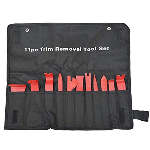 Yaoaoden 11Pcs/Set Removal Pry Tools Car Auto Radio Audio Repair Kit Door Dash Trim Pry Clip Stereo Panel Installer with Cloth Bag (Auto Stereo-dash Kits)