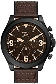 FOSSIL MENS LATITUDE STAINLESS STEEL WATCH - FS5751