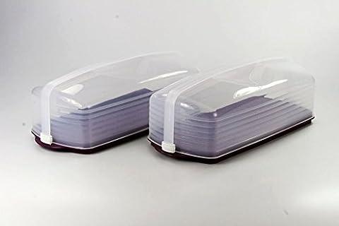 TUPPERWARE Exclusiv Königskuchenbehälter lila (2) Kuchenform Kuchen Form Behälter