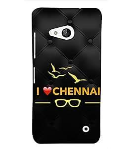 EPICCASE I love Chennai Mobile Back Case Cover For Microsoft Lumia 550 (Designer Case)
