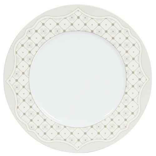Novastyl 8017975 Lot de 6 Assiettes Plates Heritage Diametre 27 cm-8017975, Céramique, Creme, 27 cm