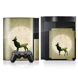 DeinDesign Sony Playstation 4 Controller Folie Skin Sticker aus Vinyl-Folie Aufkleber Hirsch Mond Tiere