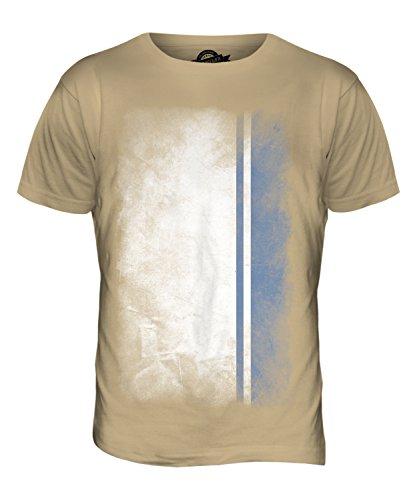 CandyMix Republik Altai Verblichen Flagge Herren T Shirt Sand