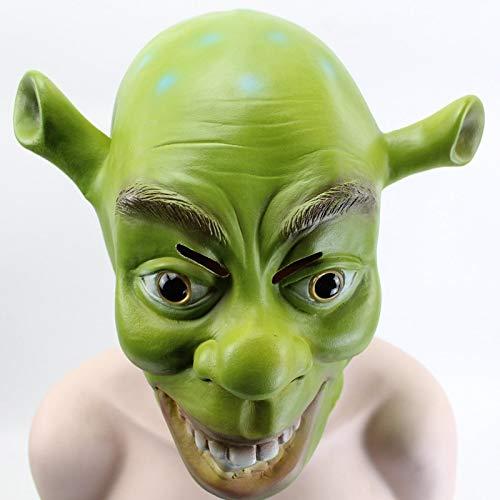 Gnhyll Green Shrek Latex Maske Film Cosplay Prop Adult Animal Party Maske Für Halloween Party Kostüm Fancy Dress Ball (Halloween Shrek Film)