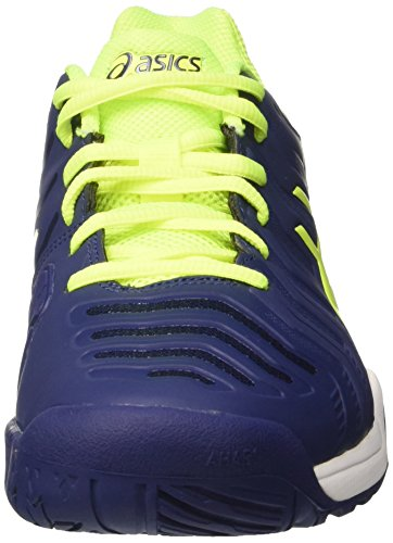 Asics Gel-Challenger 11, Chaussures de Tennis Homme Bleu (Indigo Blue/safety Yellow/silver)