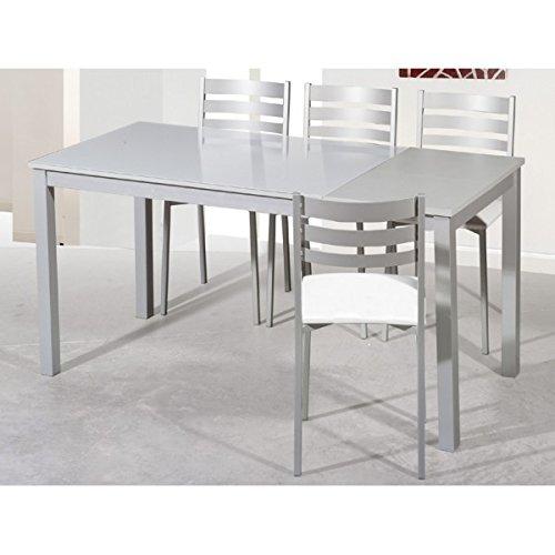 SHIITO Mesa de Cocina Extensible de 120x80 cm con un ala y Tapa de ...
