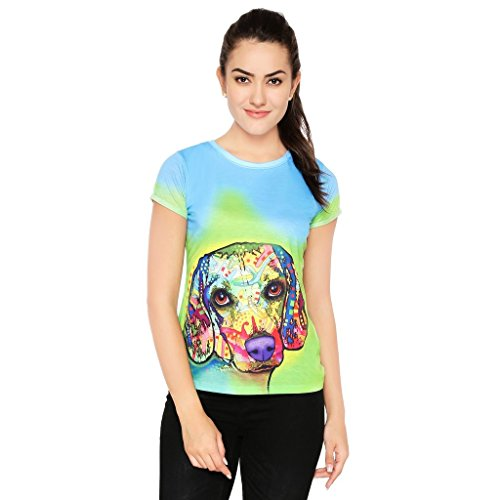 Muse Dog The Best Friend Multi Color T-Shirt | Tee for Women - L