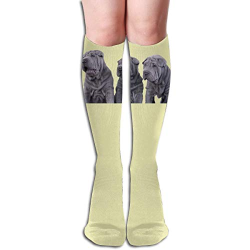 Gped Kniestrümpfe,Socken Tube High Keen Sock Boots Crew Three Shar Pei Dogs Compression Socks Long Sport Stockings Length - Shar Pei Dog Kostüm