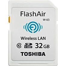 Toshiba FlashAir W-03 - Tarjeta de memoria SecureDigital de 32 GB, blanco