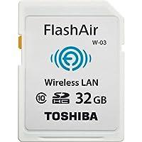 32 Go Carte SDHC CL10 Wifi Toshiba FlashAir Wi-Fi. Intègre la wifi LAN sans fil pour transférer facilement des images de la carte mémoire à une tablette ou un ordinateur compatible. Ne nécessite pas de pilote informatique, ou installation de logiciel...