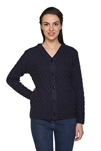 aarbee Women's Cardigan (Charcoal, Large)