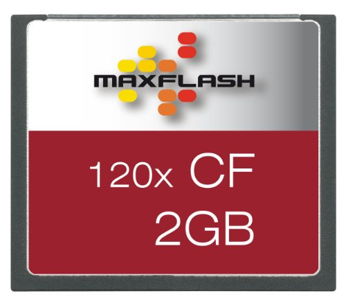 Maxflash Compact Flash (CF) Card 2GB Speicherkarte (original Handelsverpackung) (Cf 2gb)