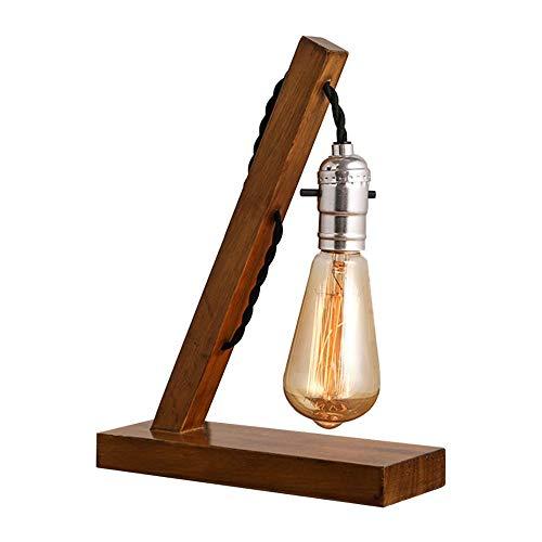 OUSENR Conector De La Lámpara De Mesa Retro Nostálgico De Madera Maciza De Madera Personalidad Creativa Lámpara Lámpara De Mesa Cafe Lámpara De Escritorio