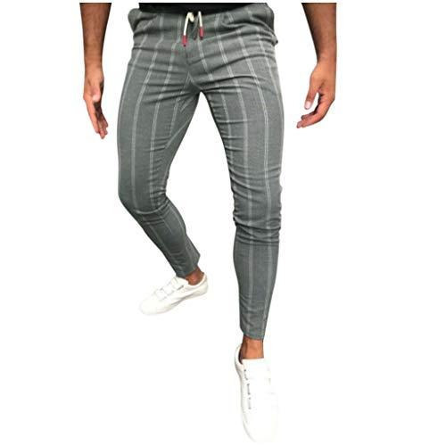 Fenverk Herren Hosen Cargo Chino Stretch Slim fit Jeanshose Basic Jogger Sporthose Freizeithose,Herren Hose Jeanshose Stretch Jogger Basic Jeans Hose,Hose Männer(Grau,XL)