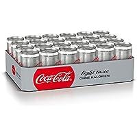 Coca-Cola Light / Erfrischendes Softgetränk in coolen Dosen - Coca-Cola Geschmack ohne Kalorien / 24 x 250 ml Dose