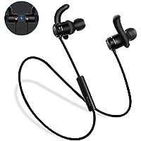 Auricolari Bluetooth, Techvilla Tune 3 Bluetooth 4.2 Cuffie Senza Fili Magnetici Stereo per Running, Cuffie Stereo con Microfono per iPhone,Samsung, Sony, ecc. (Nero)