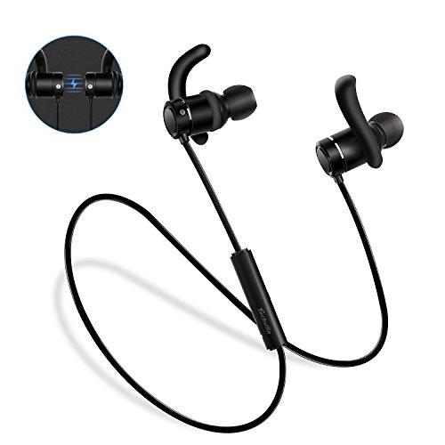 Auriculares Bluetooth, Techvilla Auriculares magnéticos Bluetooth 4.2 Sonido estéreo de calidad superior para correr, tecnología APTX de Ruido de Cancelación CVC 6.0 con micrófono para Teléfono